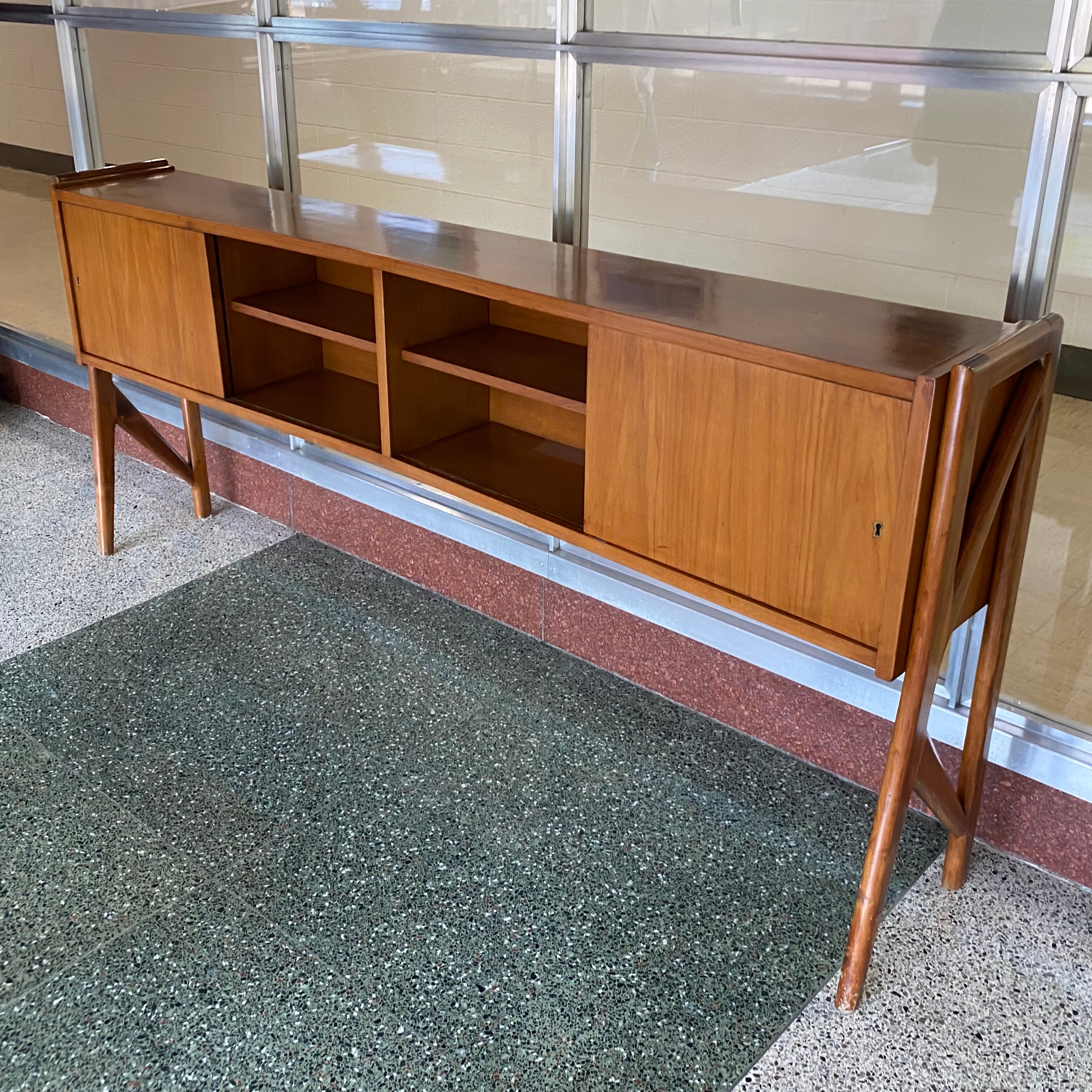 Danish Modern Teak Console Cabinet Featuring Antique Vintage And Mid Century Furnishings